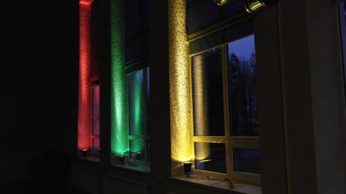 Ėriškių kultūros centras prisijungė prie akcijos apšviesti pastatą trispalve